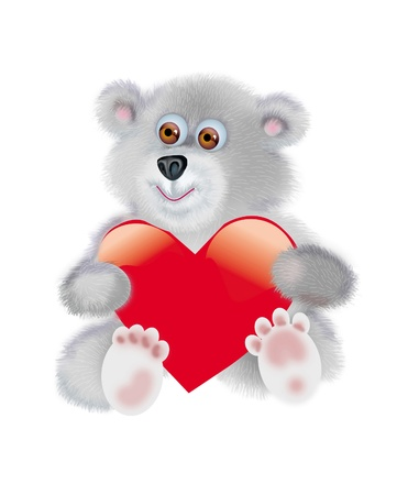 the sincerity: Picture of bear-cub with a heart