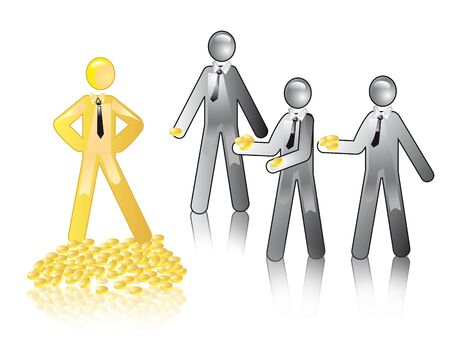 Ñoncept of distributing resources Stock Photo