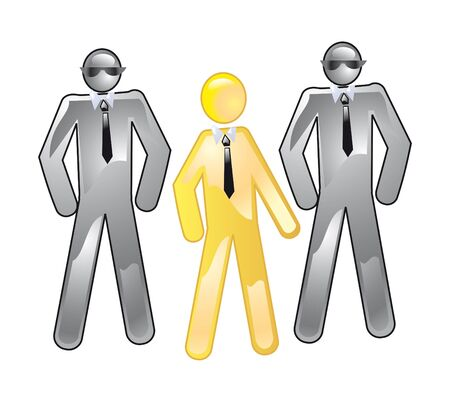 Conception of guard and accompaniment of gold client Stock Photo - 10527648
