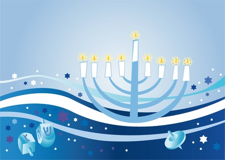 Abstract background from the stars of David and Menorah Stock Photo - 10527645
