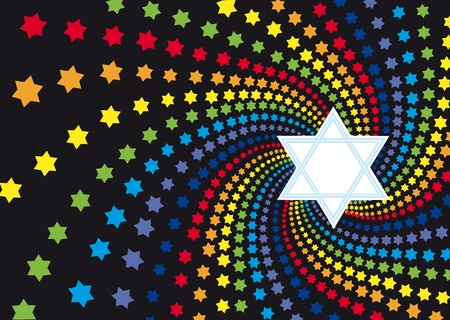 jewish star: Abstract background from the stars of David