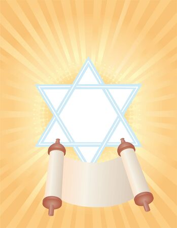 background with Torah to the holiday Simchat Torah Stock Photo - 10700203