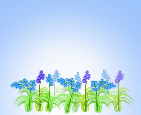 name day: A background with spring flowers.