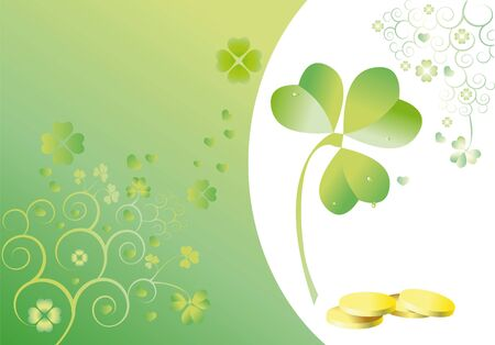 background to the holiday st patrick's day with the leaves of clover Stock Photo - 10996264