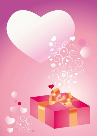 Background for congratulation to the day of sainted Valentine, birthday, wedding Stock Photo