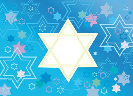 Abstract background from the stars of David Stock Photo - 11737943