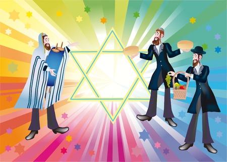 쉐 미니 Atzeret 및 Simchat - 토라 유대인 휴일의 기차를 완료합니다. 스톡 콘텐츠