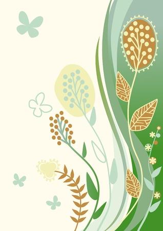 fantasy floral background for congratulation