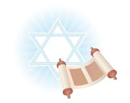 background with Torah to the holiday Simchat Torah photo