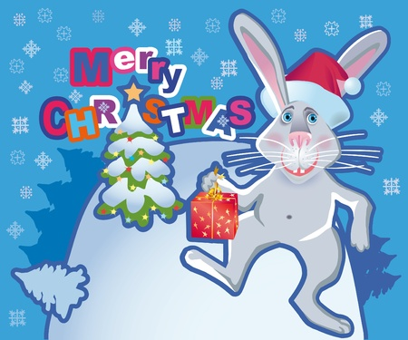 newyear: Background under christmas or new-year congratulation