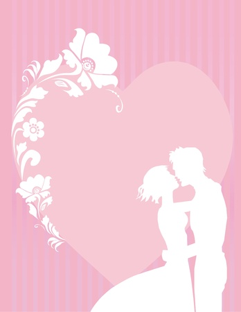 Romantic background with a heart for congratulation