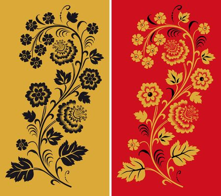 commercial painting: Ornament in style of Russian national tradition.
