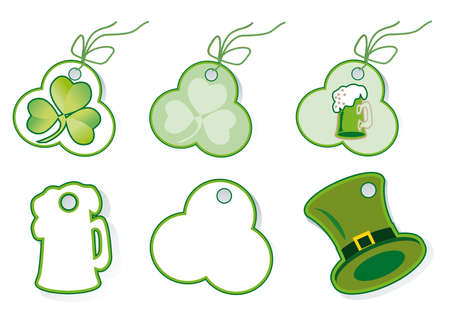 Set of sales tags to the holiday st Patrick's day Stock Photo - 12273681