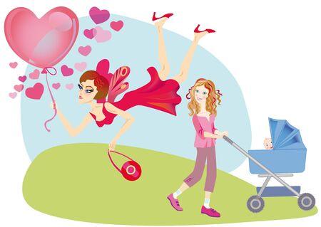 desprecio: El abandono voluntario de los niños y la alegría de la vida doméstica con los niños Foto de archivo