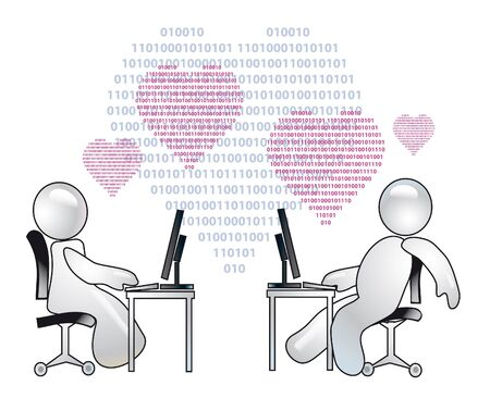 conception of romantic relations over the internet Stock Photo - 12273720