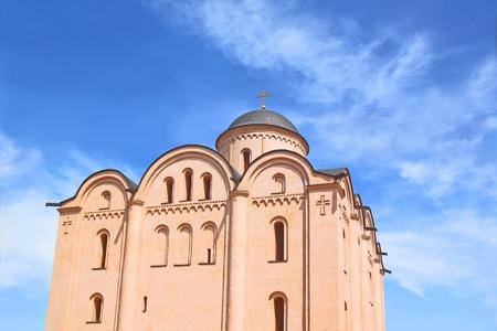 remake: The Assumption Church, located on Kontraktova Square in Kiev. Built in XII century Stock Photo