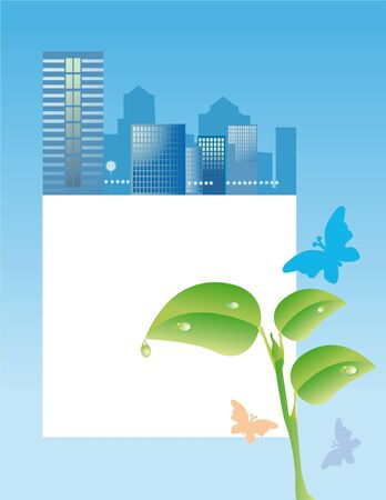 Conception of ecological problems of cities photo