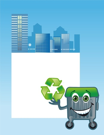 wastes: Conception of ecological problems of cities Stock Photo