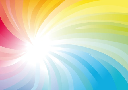 무지개 빛깔의 나선형 추상 화려한 배경