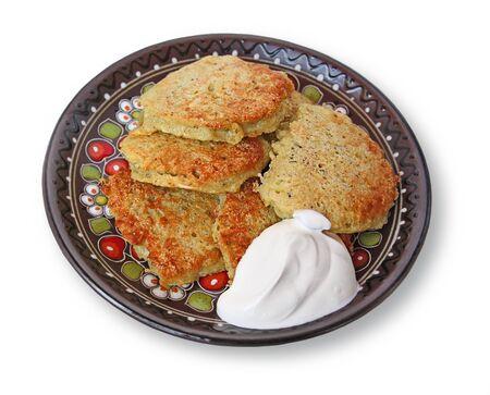 National Ukrainian meal potato pancake of  photo