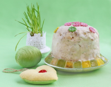 The traditional easter treating is urgent kulich Stock Photo