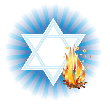Conflagrant fire as symbol of holiday Lag Ba-Omer Stock Photo - 12686306