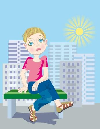 lost child: A lost child Stock Photo