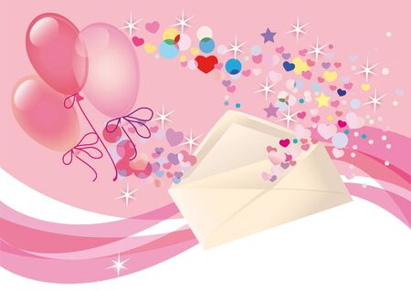 births: Background for congratulating on the  of Valentines day, wedding or in the day-time births Stock Photo