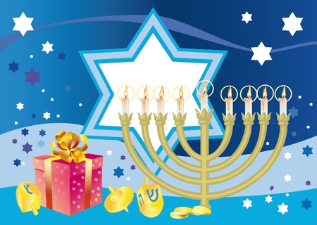 Abstract background from the stars of David and Menorah Stock Photo - 12686347