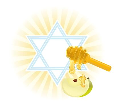 Background for congratulating on the Jewish holiday on of Rosh-hashanah Stock Photo - 12686290