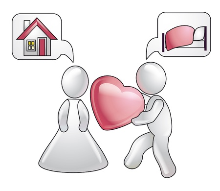 Talk and ideas about love. Conception