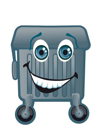 wastes: Merry trash container on a white background