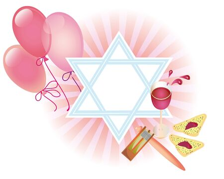 Background for congratulating on a merry holiday Purim photo
