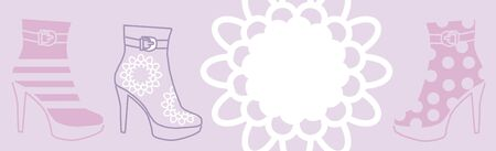 baner with fashionable womanish boots photo