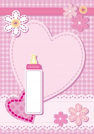 grzechotka: Narodziny pikowana karta ogłoszenie dla dziewczyny