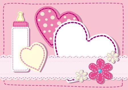여자 누비 출생 공고 카드