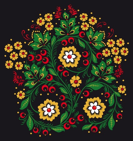 Ornament in style of Russian national tradition. photo