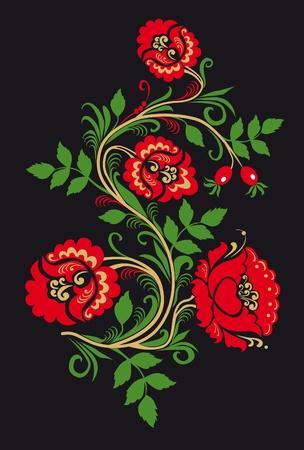 folk culture: Adorno en el estilo de la tradici�n nacional de Rusia. Foto de archivo