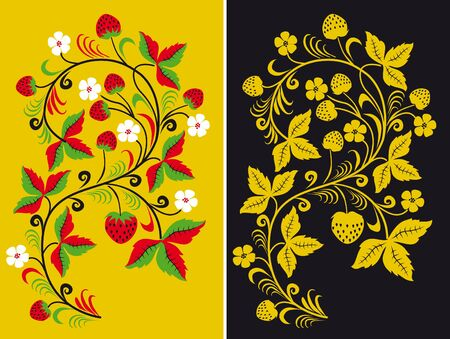 folk art: Ornament in style of Russian national tradition.