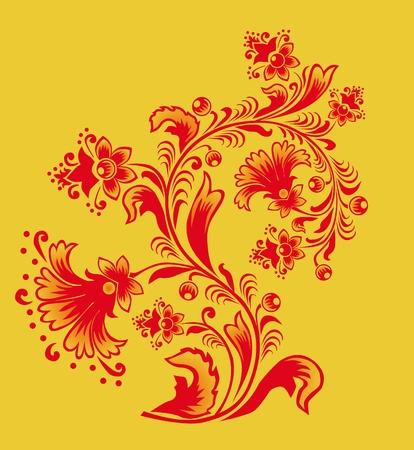 russian pattern: Ornament in style of Russian folk national tradition.