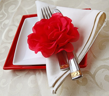 Romantic registration of festive table