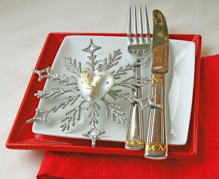 Romantic registration of festive table photo