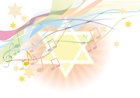 sukkot: Abstract background dalle stelle di David