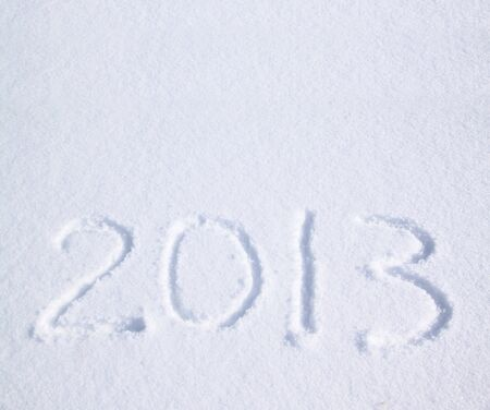 2013 on the snow for the new year and christmas photo