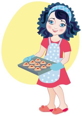 hamantash: Chef girl making Haman