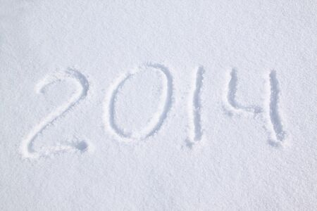2014 on the snow for the new year and christmas photo