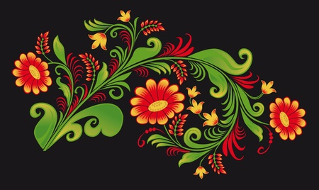 folklore: Ornament in style of Russian national tradition