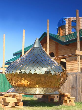 The construction a new Orthodox church Stock Photo - 20875585