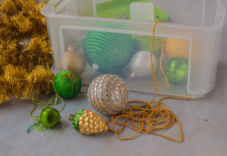 Storage Christmas tree decorations after the holidays