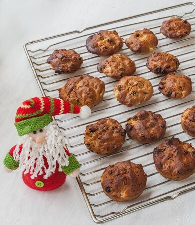 Traditional Ukrainian national lean baking for the holiday of St. Nicholas in honey and oil. The product of mass production photo